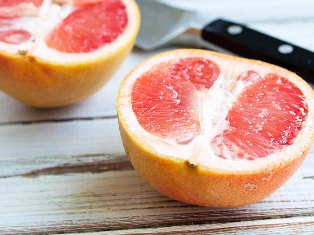 Spiced Broiled Grapefruit recipe. This makes the perfect healthy breakfast or snack. Vegan, gluten-free, and so refreshing!