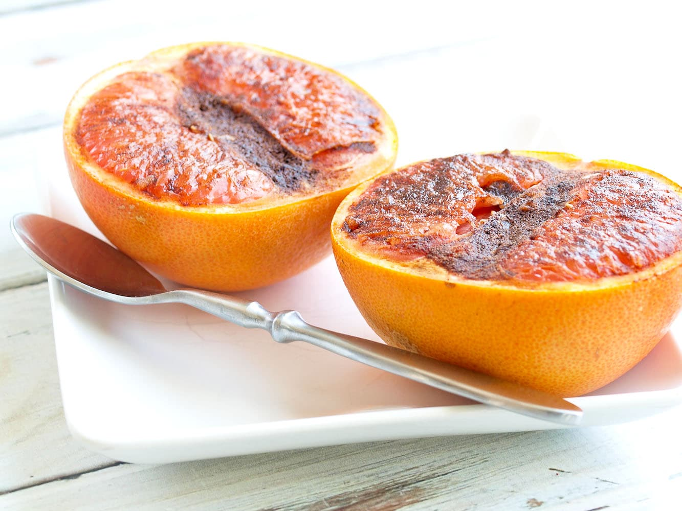 Spiced Broiled Grapefruit - Happy Healthy Mama