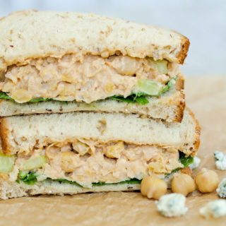 Buffalo Chickpea Salad Sandwich
