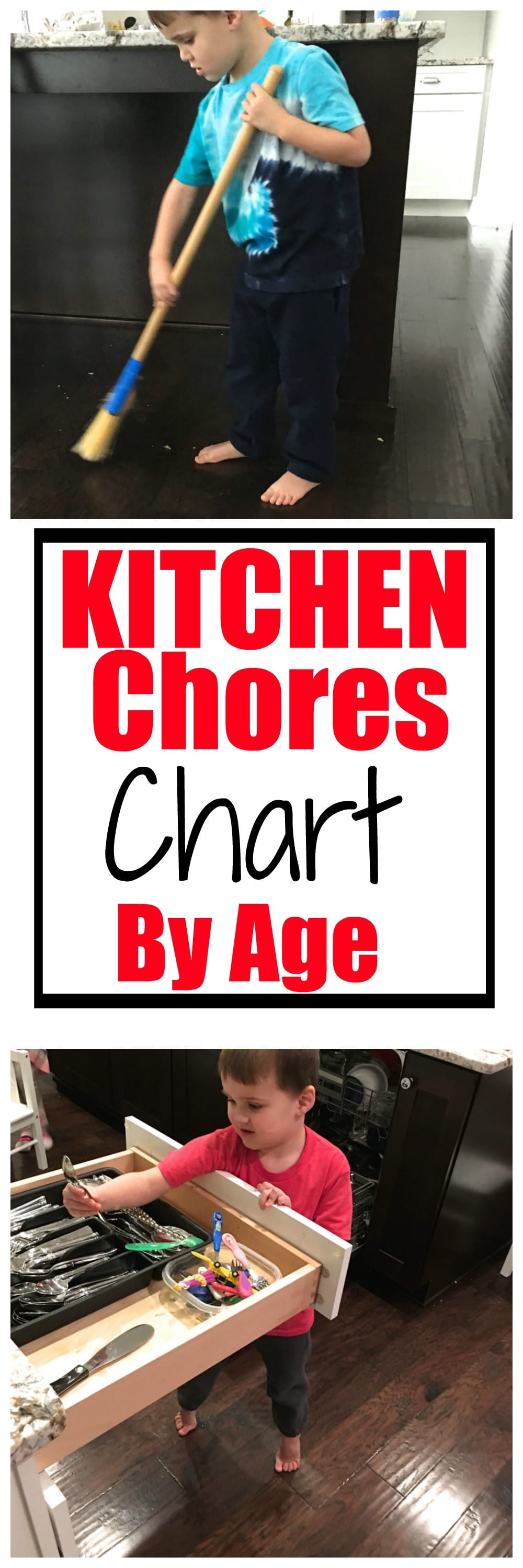 What should your kids be helping you with in the kitchen? Use our Kitchen Chores Chart by Age to find out!