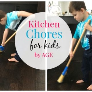 Kitchen Chores Chart for Kids by Age