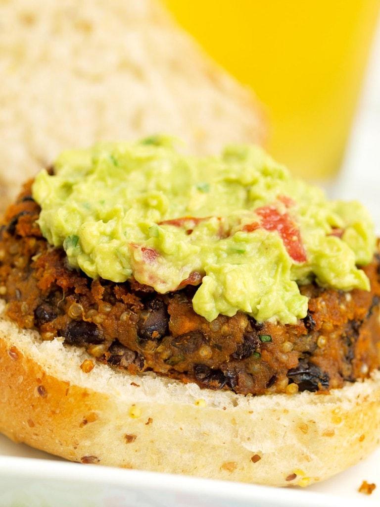Sweet Potato Black Bean Burgers #veggieburger #sweetpotato #blackbeanburger #healthy #vegan #glutenfree