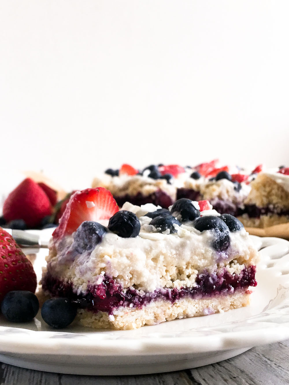 Coconut Berry Ice Box Cake - Happy Healthy Mama
