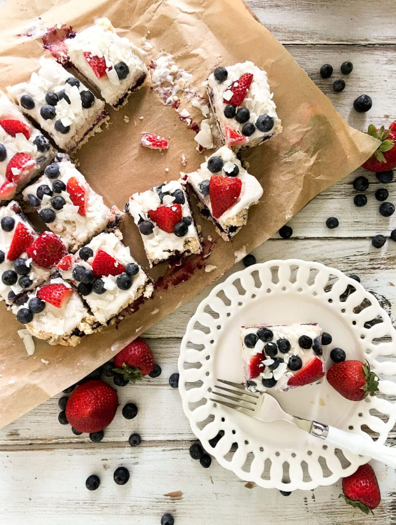 Coconut Berry Ice Box Cake - Happy Healthy Mama
