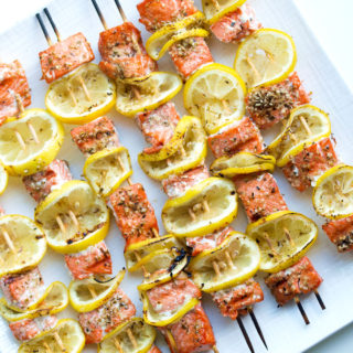 Easy Grilled Salmon Kabobs