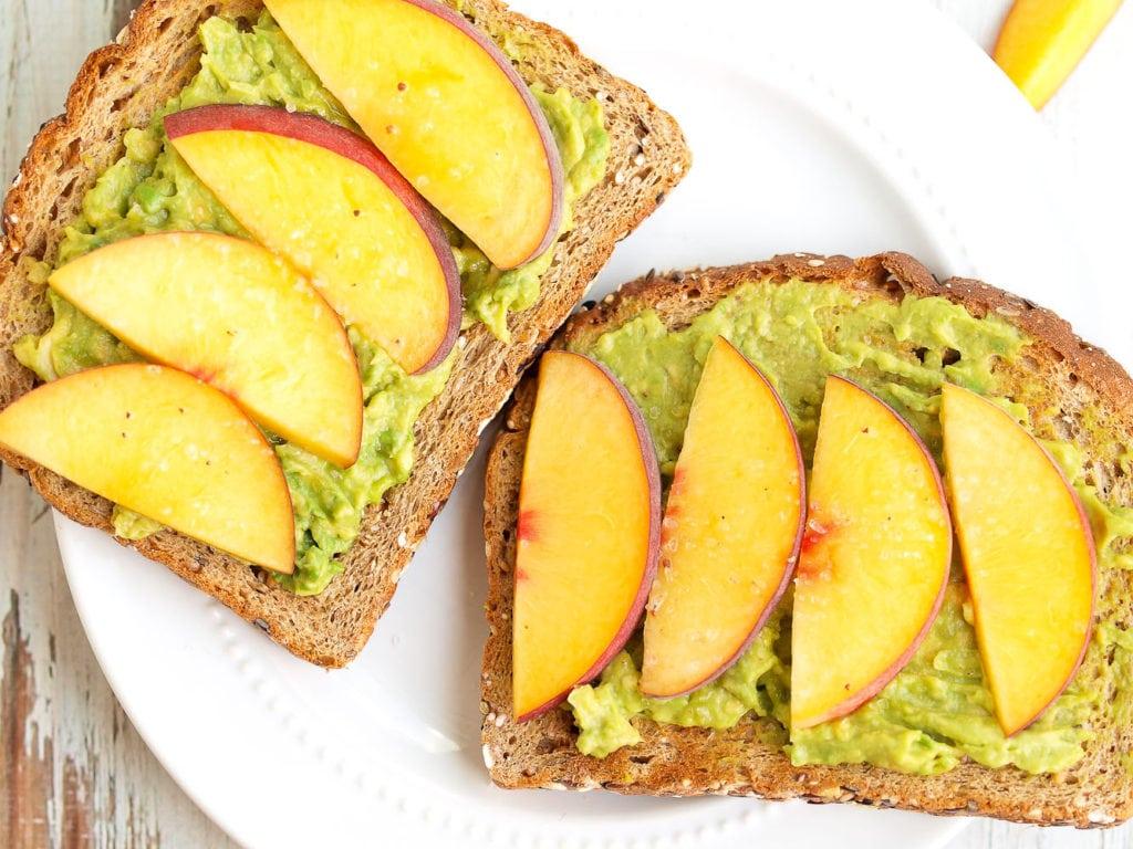 Avocado Toast with Peaches and Sea Salt