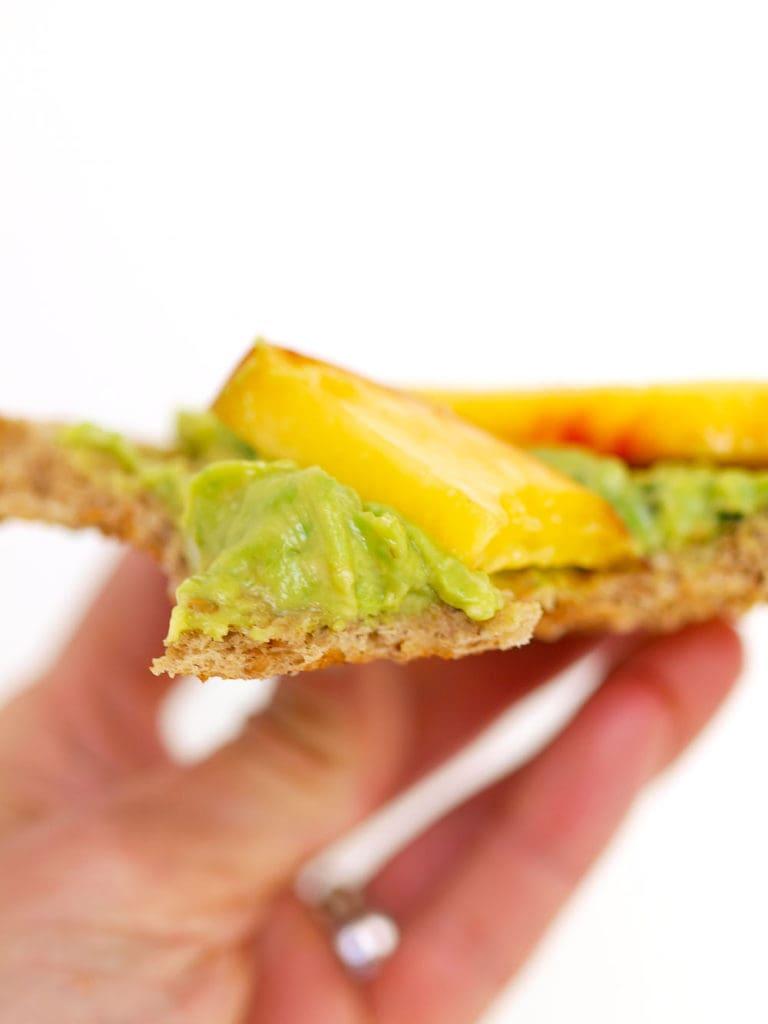 Avocado Toast with Peaches