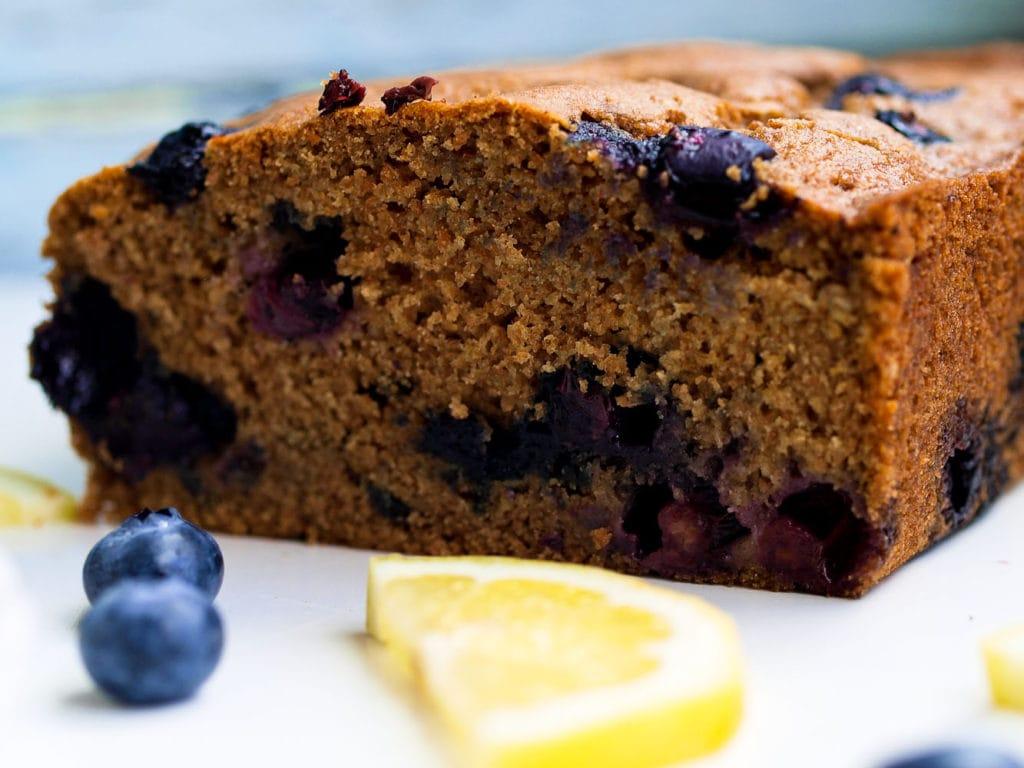 Blueberry Lemon Spelt Quick Bread
