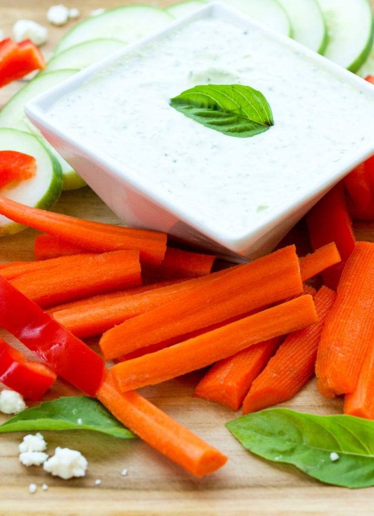 Basil Feta Greek Yogurt Dip