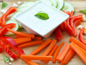 Basil Feta Greek Yogurt Dip