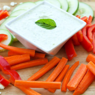 Feta Basil Greek Yogurt Dip