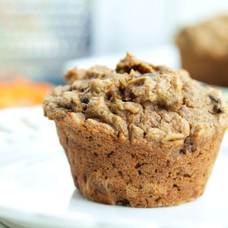 Carrot Cake Oatmeal Muffins (Vegan and Gluten-free)