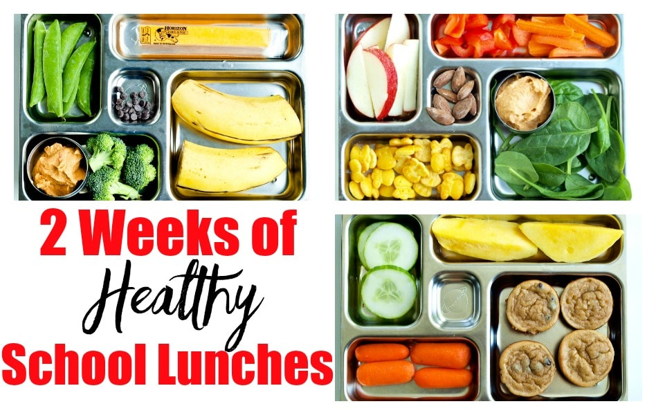 2 Weeks of Healthy School Lunch Ideas