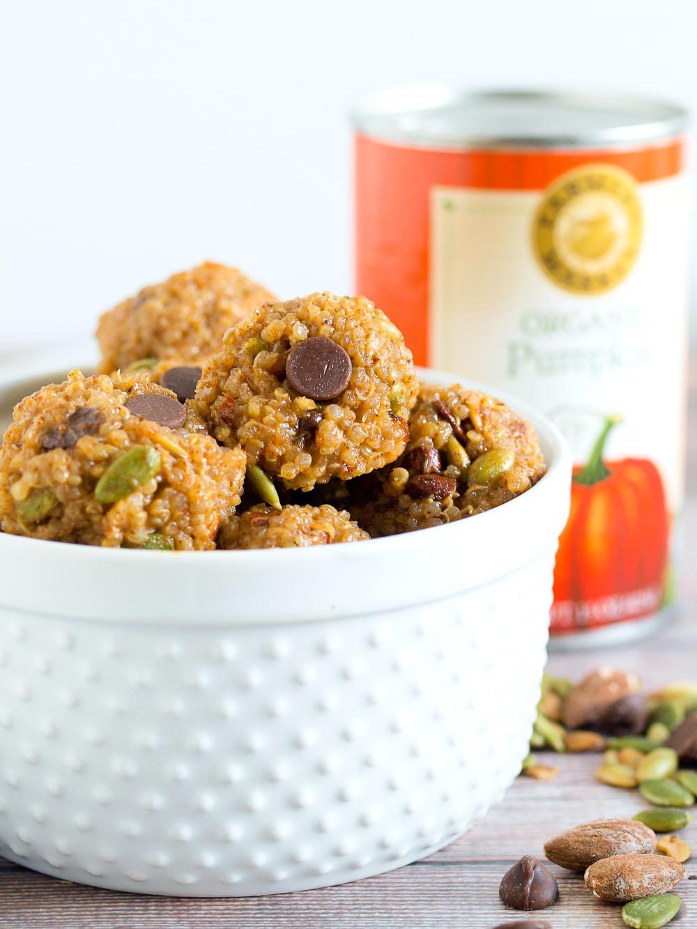 Pumpkin Spice Quinoa Snack Balls