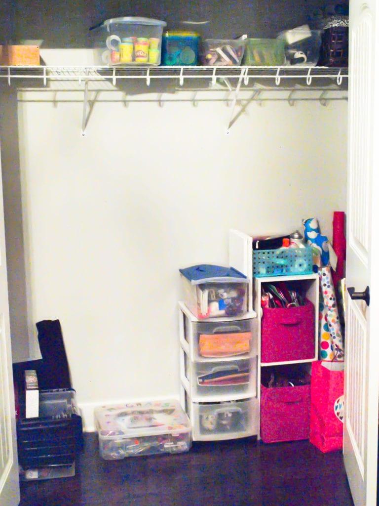 Declutter Challenge: the closet