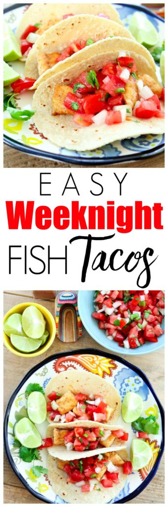 Easy weeknight dinner idea! This fish tacos recipe is quick, easy, and healthy! Oh, and did I mention it's a kid-friendly dinner, too? Can be gluten-free