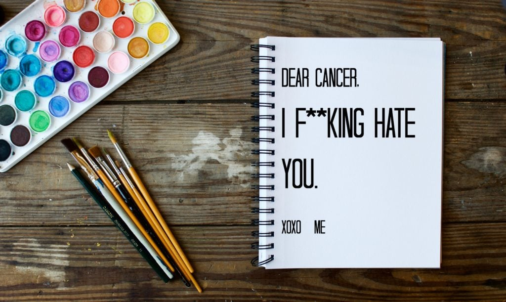 I f**cking hate cancer and it fuels me