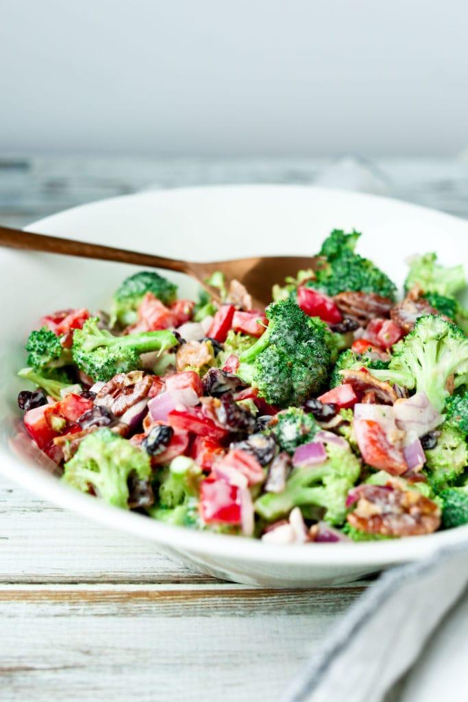 Broccoli Salad with yogurt dressing