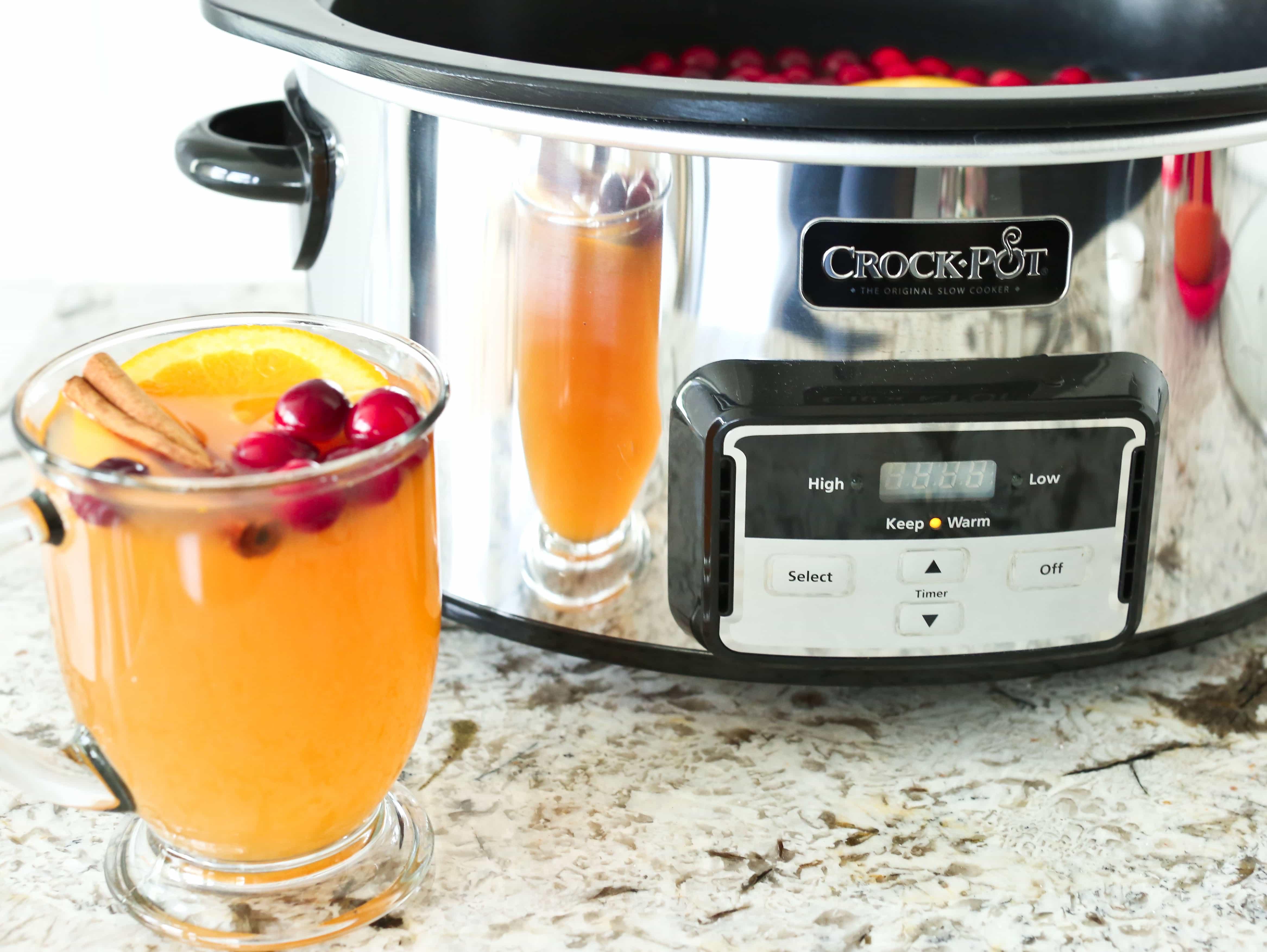 Mulled Hot Apple Cider Crockpot Slow Cooker