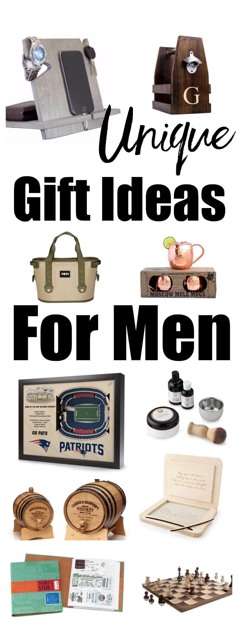 Unique Gift Ideas for Men! Christmas gift ideas for men