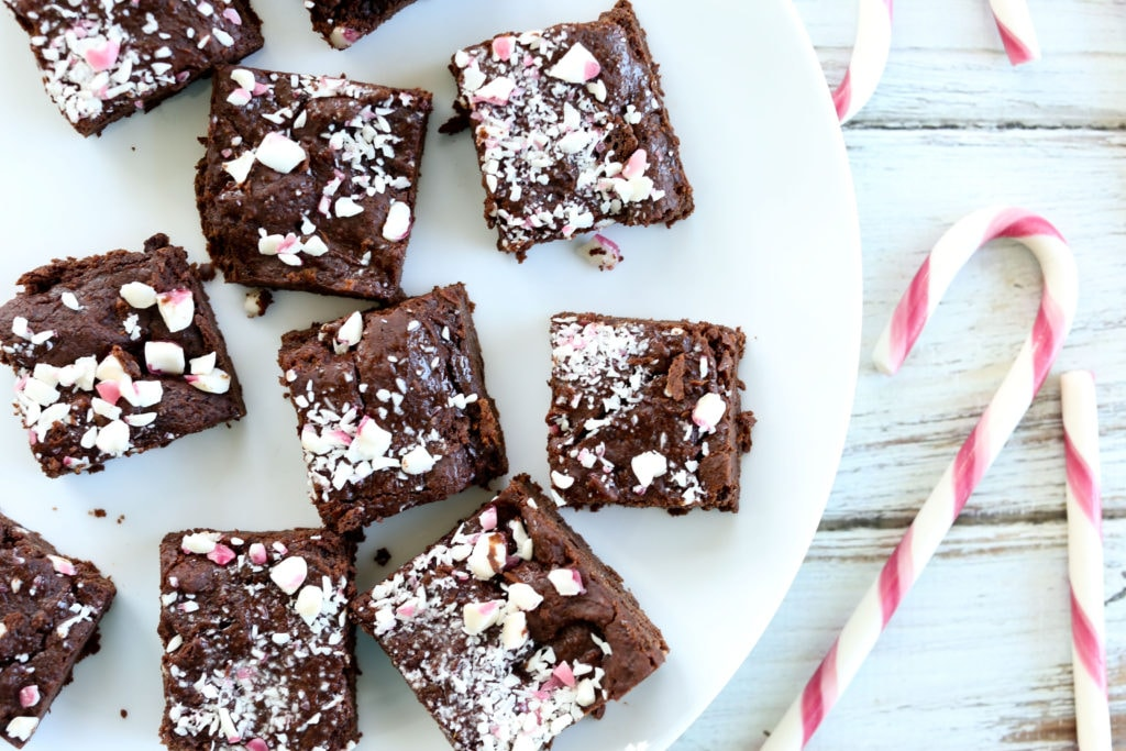 Peppermint Brownies vegan gluten-free