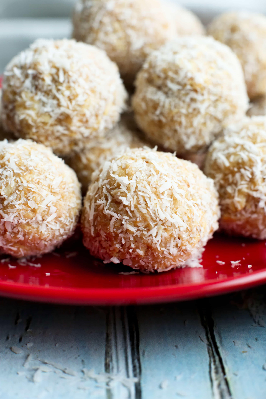 No Bake Peanut Butter Snowballs Happy Healthy Mama