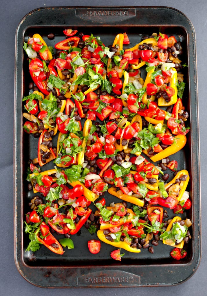 Healthy Mini Bell Pepper Nachos (vegan and gluten-free)