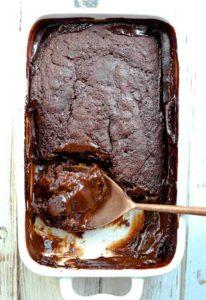 Hot Fudge Pudding Cake (Vegan & Gluten-Free)