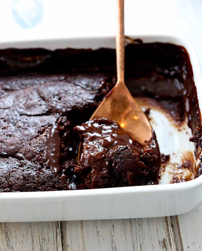 Hot Fudge Pudding Cake Vegan and Gluten Free