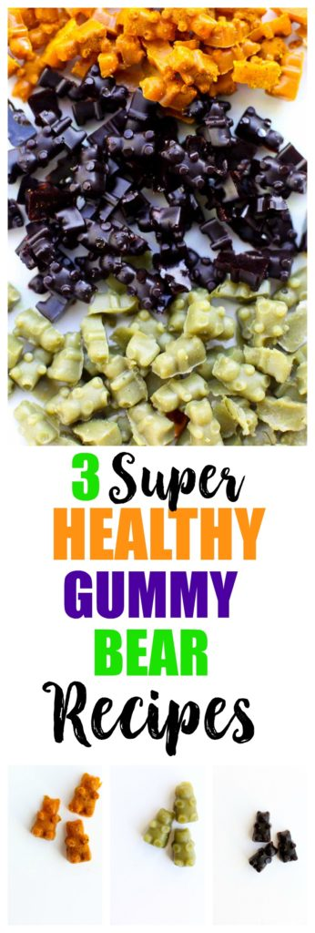 3 healthy homemade gummy bear recipes. These gummies are made with grass-fed gelatin and are great health boosters!