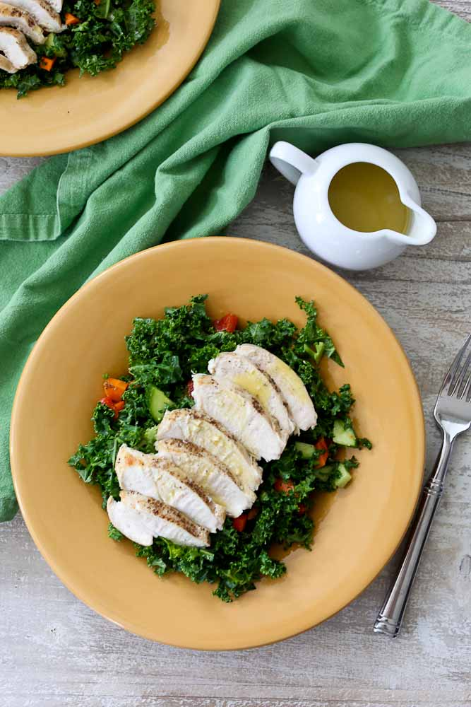 Ultimate Chopped Kale Chicken Salad