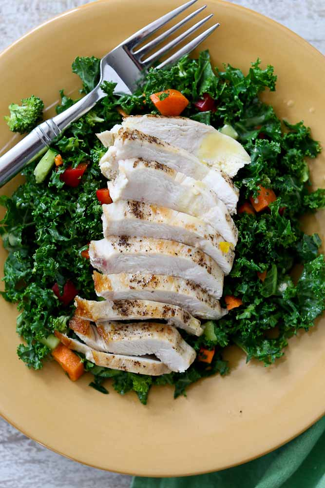 The ULTIMATE Chopped Kale Chicken Salad