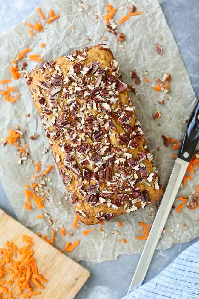 The BEST Carrot Honey Quick Bread Recipe ever