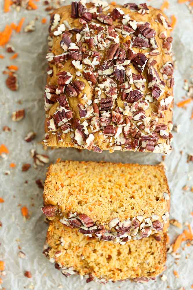 Slices of the Carrot Honey Quick Bread