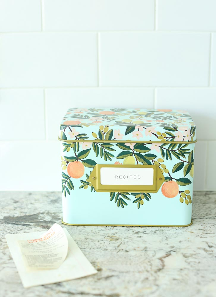 Recipe tin from anthropologie