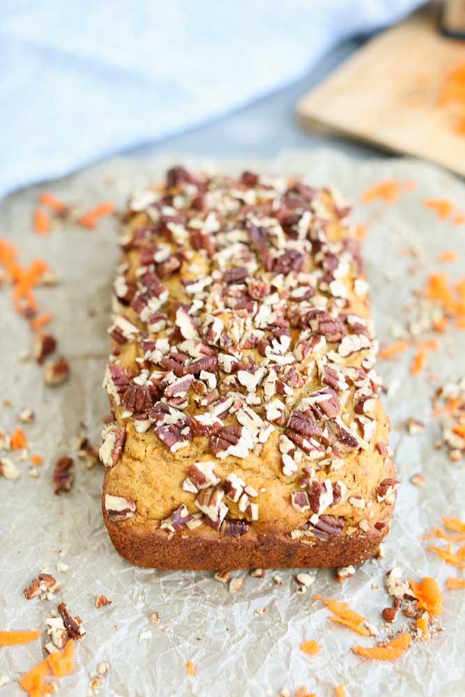 Carrot Honey Quick Bread Recipe Top Picture