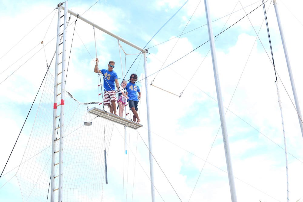 Meghan on top of the trapeze Club Med Cancun Yucatan