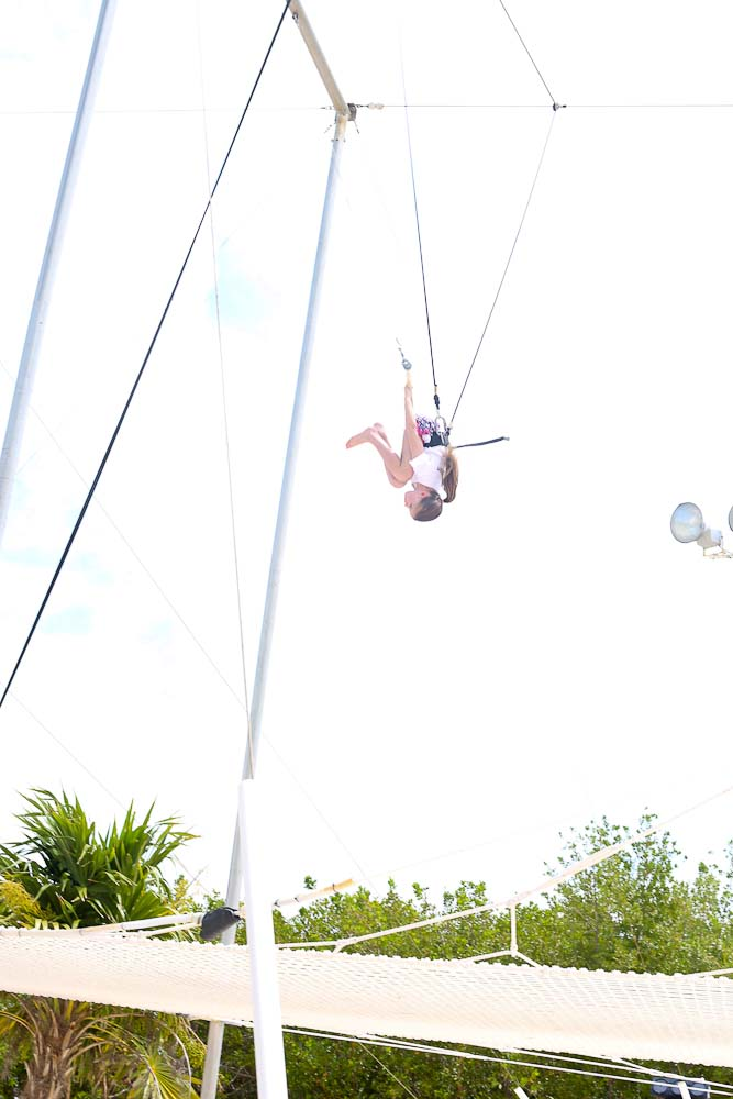 Meghan conquers the trapeze Club Med Cancun