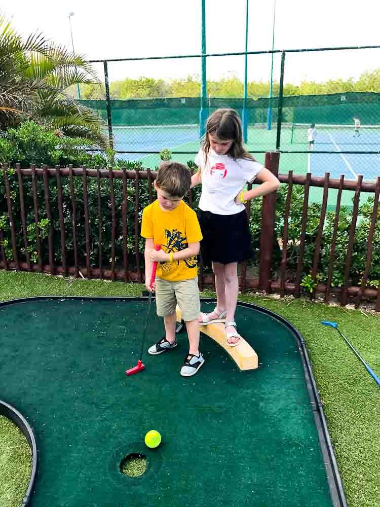 kids mini golfing Club Med Cancun Yucatan