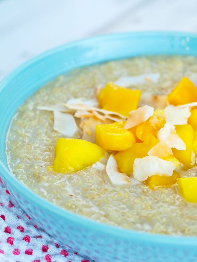 Close up visual of Tropical Quinoa Breakfast Recipe