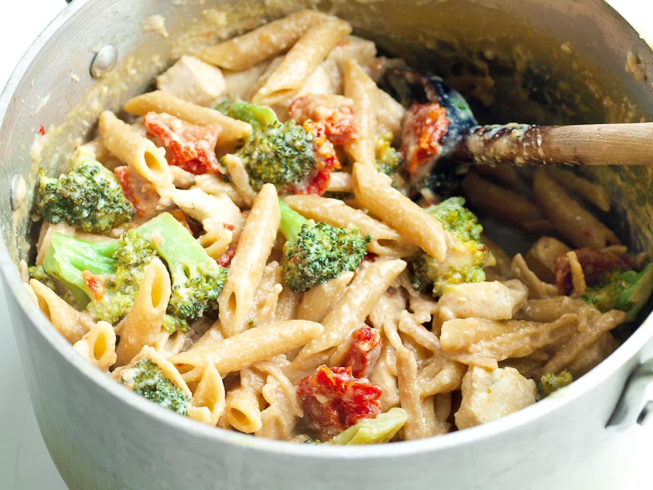 One Pot Penne And Broccoli Recipe Happy Healthy Mama