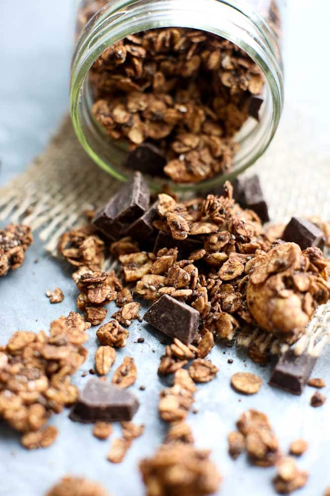 Chocolate Chia Granola