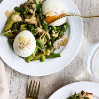 Spring Vegetable Skillet with Soft Boiled Eggs