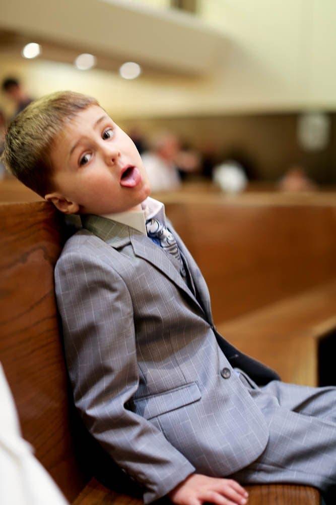 Luke in church