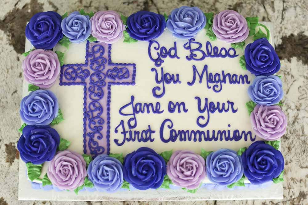 Meghan's First Communion  cake