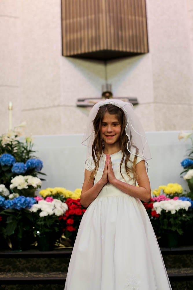 Meghan at the church