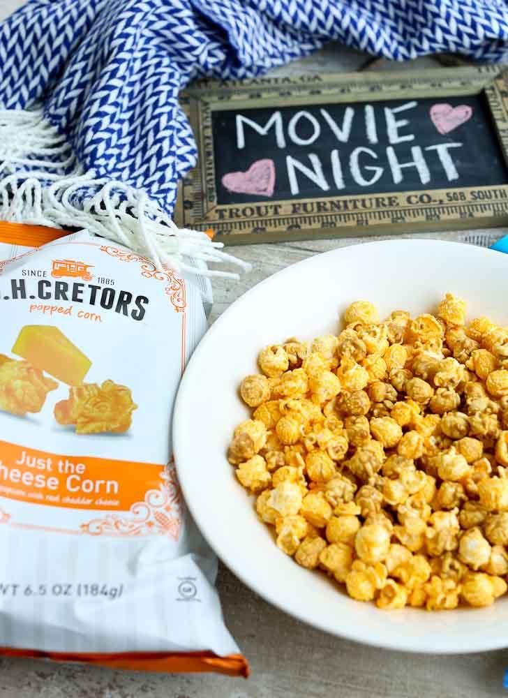 Movie Night with G.H. Cretors popcorn