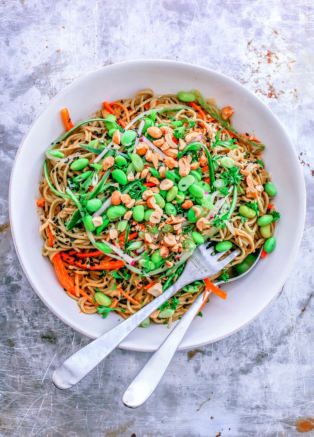 Bell Pepper Recipes: Cold Soba Noodle Salad