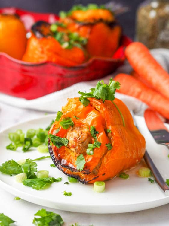 Bell Pepper Recipes: Chicken Stuffed Peppers