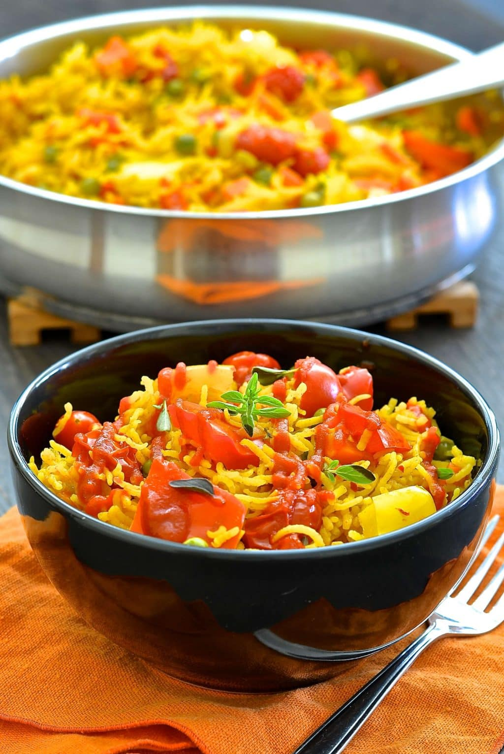 Bell Peppers Recipes: One Pot Spicy Vegetable Rice